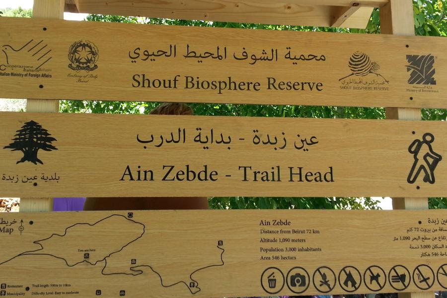 Ein Zebde Trail Sign