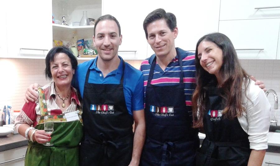 Raymonda with Alberto, Gabriel and Natalia
