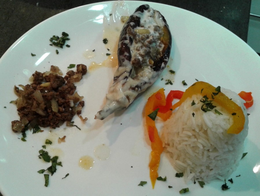 Sheikh el mehshe served with rice