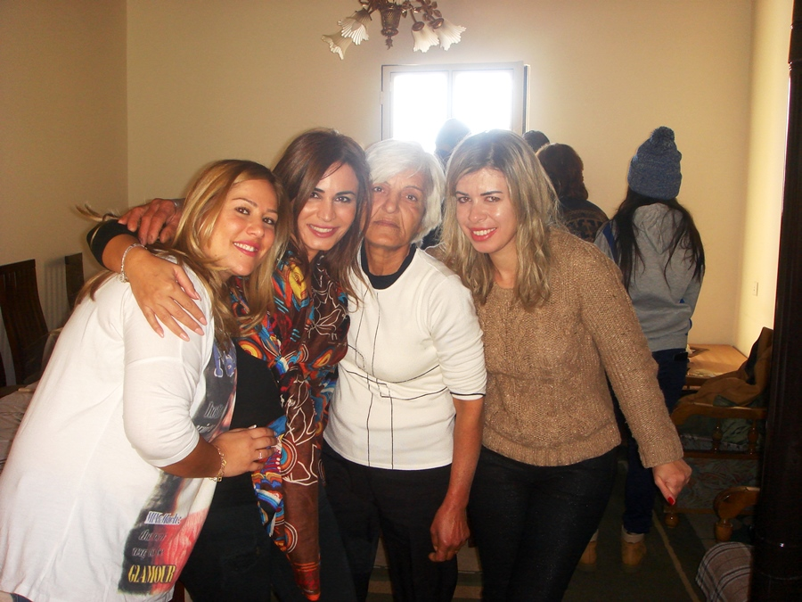 Lovely Sonia surrounded by the beautiful ladies