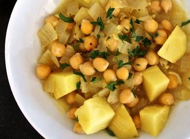 Potato and chickpea stew