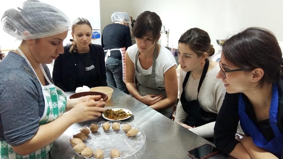 Making vegan chard kebbeh, an Armenian specialty with Araksi