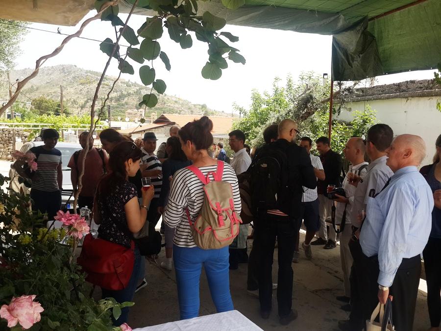 Refreshments at Lina's in Kherbet Qanafar