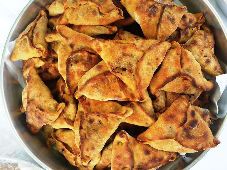 Veggie pastries served for breakfast