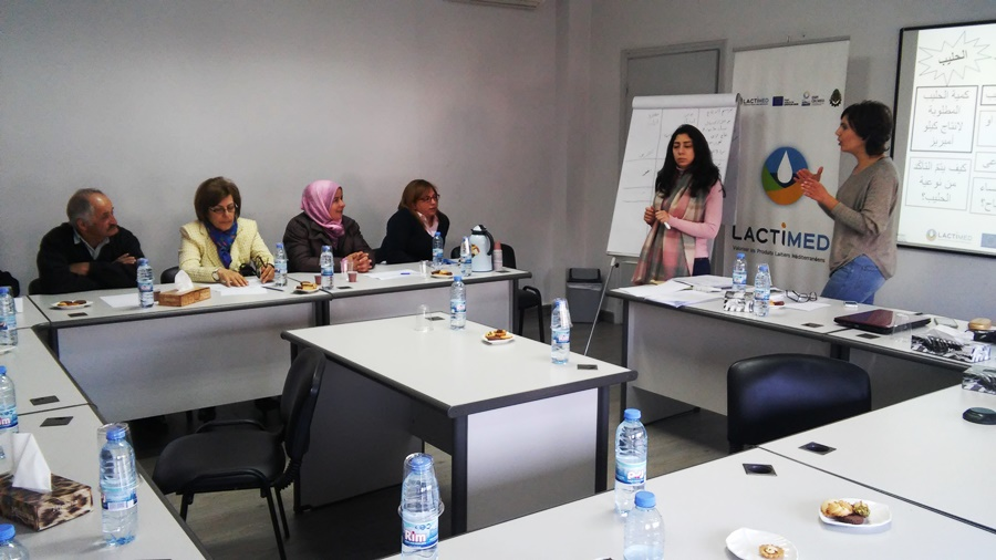 Eng. Mabelle Chedid (on the right) and Ms. Marwa Soubra welcoming the participants and stressing on the reasons why Ambarees production should be preserved