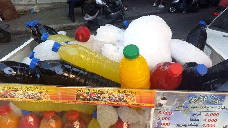 Street vendor selling juices during Ramadan