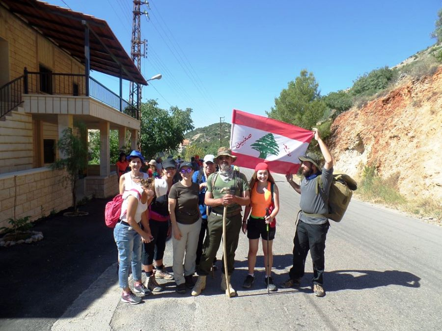 Georges leading a group from Groupement Social Scout - Jounieh