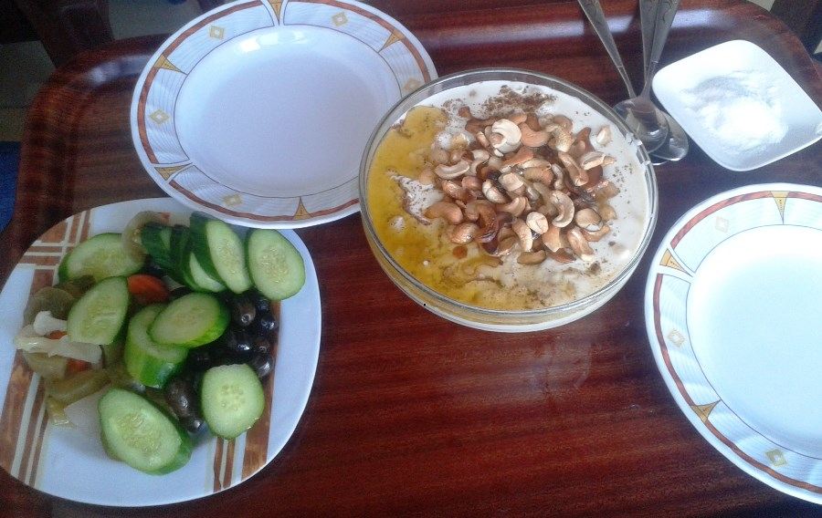 Syrian fatteh served in a small Syrian restaurant in Qab Elias  - West Bekaa, Lebanon