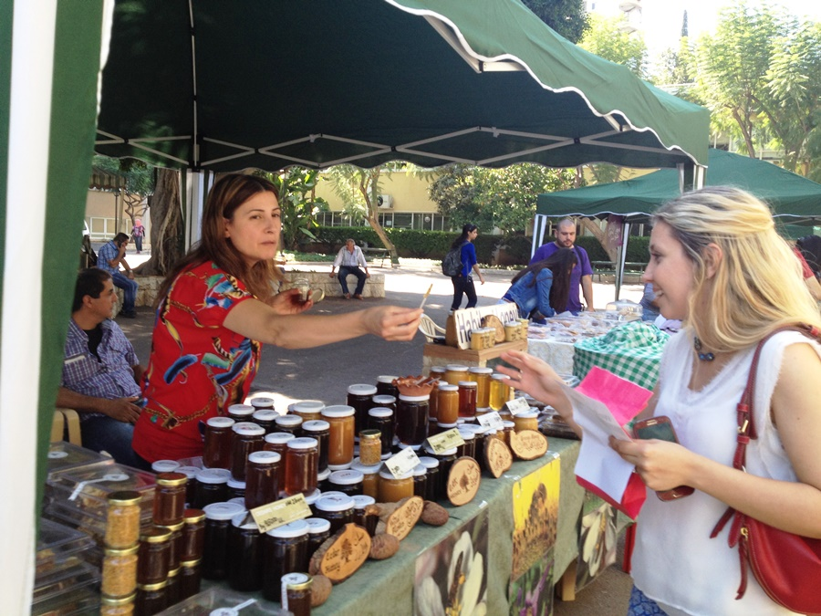 The food smooth revolution is through encourage farmers' markets - Souk aal Souk farmers' market in AUB